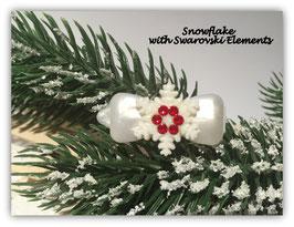 """Snowflake """" White Glamour """" Rubi  """" mit Swarovski Elemente"""
