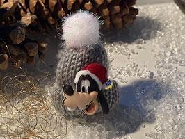 Wintermützchen mit Goofy in Grau