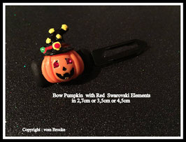 "Bunte Halloween HundehaarSpangen "" Nr  8 Smile Pumpkin mit SWK Augen """