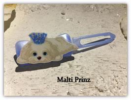 "HundeMotivHaarSpange  "" Malteser Malti Prinz """