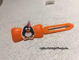 "HundeHaarSpange  Pinguin  ""  BIrthday """