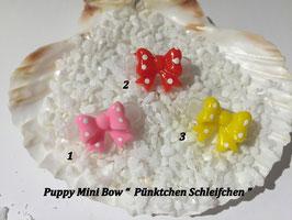 """HundeHaarSpange Mini Puppy Bow   """" Pünktchen Schleifchen   """""""