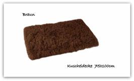 """Kuscheldecke """" super  flauschig """" braun  """""""