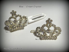 "HundeHaarSpange mit MetallApplikation  "" Crown Crystal """
