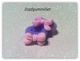 Zopfgummi Set Scheifchen rosa