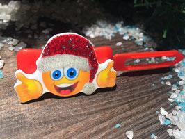 WeihnachtsMotiv HundeHaarSpange  Lachender WeihnachtsSmiley