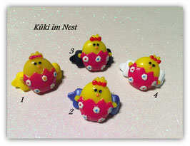 "Ostern  HundeHaarSpange  "" Küken im pinken  Ei  """