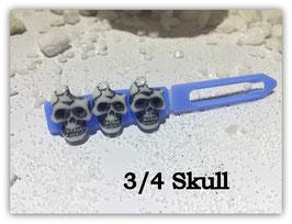 HundeHaarSpange  Limted Edition !!!! Skulls (3 )  3/4 Skull himmelblau