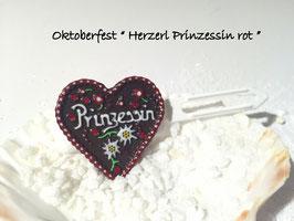 """MotivSpange """" Oktoberfest Prinzessin rot mit und ohne SWK  """""""