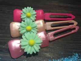 "Hundehaarspange  Blume "" Big Daisy Mint Nr. 1 """