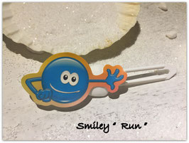 "Emotion / Smiley HundeHaarSpange  "" Run   """