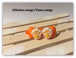 """HundeHaarSpange  """" Pfötchen Orange """""""