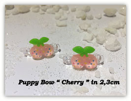 "HundeHaarSpange Mini Puppy Bow   "" Cherry Rosa    """