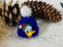 Wintermützchen mit Donald in Royalblau