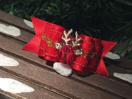 """WeihnachtsSchleife """" Rentierkopf ROT Nr. 4  """""""