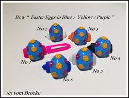 """Ostern  HundeHaarSpange  """" blaues Ei """""""