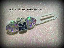 "HundeHaarSpange ""  Skull / Heart Light crystall   No 7 """