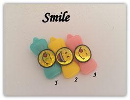 "Emotion / Smiley klein HundeHaarSpange "" Smile """