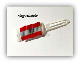 "HundeHaarSpange  "" MotivSpange  Österreich Flagge 2 """