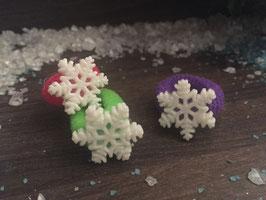 Zopfgummi: Schneeflocke 3er Set Nr . 2