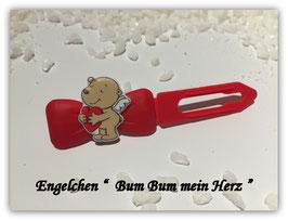 """HundeHaarSpange """" Engelchen , Bumm Bumm mein Herz """""""