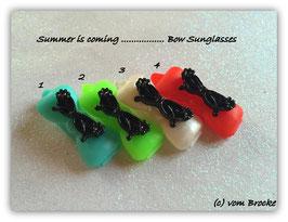 """Hundehaarspange  """" Sonnenbrille Crazy black """""""