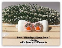 "HundeHaarSpange  "" Himalaya Glitter Paws Orange  """