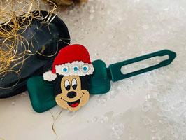 """Klassische WeihnachtshundehaarSpangen  """"  Mickey Mouse mit Mützchen und  SWK  """""""