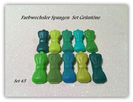 Spangen Set / Farbwechsler Set 3,5cm Nr. 45