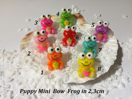 "HundeHaarSpange Mini Puppy Bow   "" Frog  """