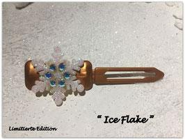"Limitierte Edition:  HundehaarSpange Schneeflocke  : "" Ice FLAKE  Bronze  """