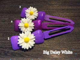 "Hundehaarspange  Blume "" Big Daisy Weiß Nr. 5"