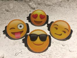 """Emotion / Smiley HundeHaarSpange  """" 4er Set 3 """""""