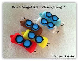 """Hundehaarspange  """" Sonnenbrille  Summerfeeling  blau """""""