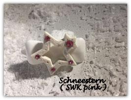 """HundehaarSpange """" Christmas Star White Glitter  Nr . 8"""