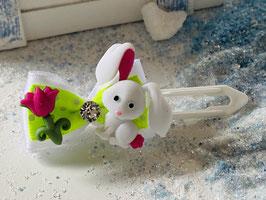 Osterhasen Schleife mit Blume und SWK  Nr 1