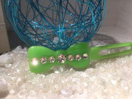 "Kunststoff HundehaarSpange/ SWK "" Glamour American Butterfly Dog Bows Schwarz 7 SWK Kristall Nr. 6  """