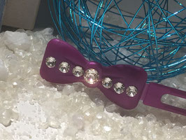 "Kunststoff HundehaarSpange/ SWK "" Glamour American Butterfly Dog Bows Schwarz 7 SWK Kristall Nr. 5  """
