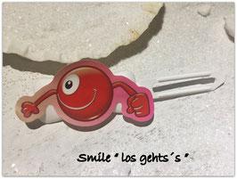 "Emotion / Smiley HundeHaarSpange  "" Los geht´s  """