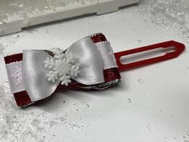 SchneeflockenSchleife rot 3