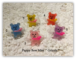 """HundeHaarSpange Mini Puppy Bow   """" Grizzly    """""""