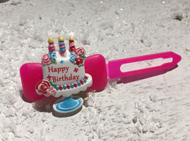 """HundeHaarSpangen """" Happy Birthday Standtorte  bunt   """""""