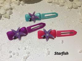 "HundehaarSpange Meer  "" Seestern  flieder/ Starfish  """