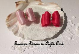 """HundeHaarSpange : Schleife """" Classic Summer Dream rosa und pink """""""