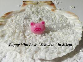 """HundeHaarSpange Mini Puppy Bow   """" Schwein """""""
