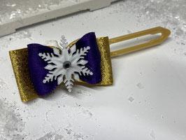 SchneeflockenSchleife in gold 4