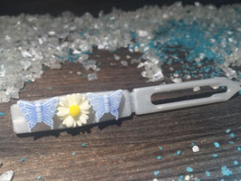 "Balken HundehaarSpange  "" Schmetterling/Blume Nr . 2 """