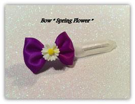 "Ausstellungs- / Stoffschleife  "" Spring Bow  Daisy  White"" No 7"