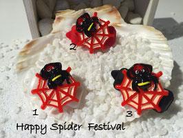 """Halloween Spinnen/Spider """" Spinne  mit Netz rot   """""""
