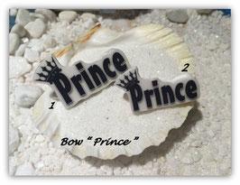 """HundeMotivHaarSpange  """" Prince mit Krone schwarz mit und ohne  SWK  """""""